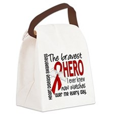 Bravest Hero I Knew Heart Disease Canvas Lunch Bag