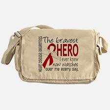 Bravest Hero I Knew Heart Disease Messenger Bag