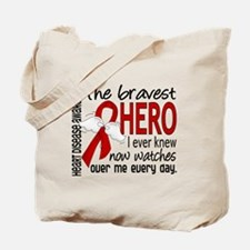 Bravest Hero I Knew Heart Disease Tote Bag
