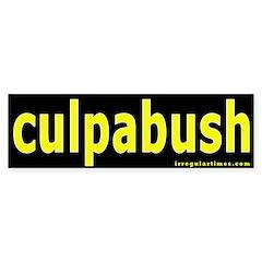 culpabush Bumper Sticker