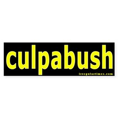 culpabush Bumper Bumper Sticker