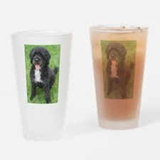 Portuguese Waterdog Drinking Glass