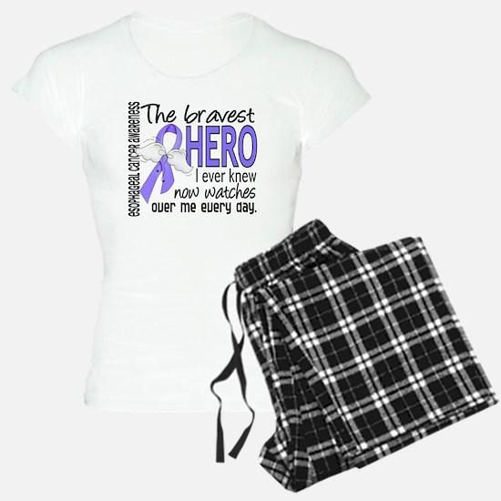 Bravest Hero I Knew Esophageal Cancer Pajamas