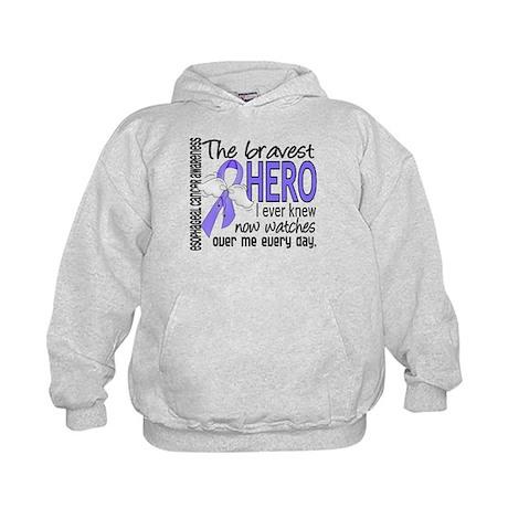 Bravest Hero I Knew Esophageal Cancer Kids Hoodie