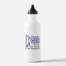 Bravest Hero I Knew Esophageal Cancer Water Bottle