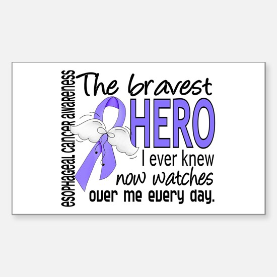 Bravest Hero I Knew Esophageal Cancer Decal