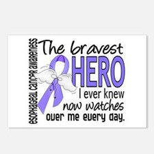 Bravest Hero I Knew Esophageal Cancer Postcards (P