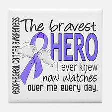 Bravest Hero I Knew Esophageal Cancer Tile Coaster