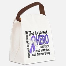 Bravest Hero I Knew Esophageal Cancer Canvas Lunch