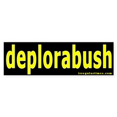 deplorabush Bumper Bumper Sticker