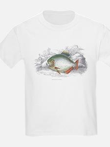 Piranha Fish (Front) Kids T-Shirt