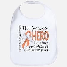 Bravest Hero I Knew Endometrial Cancer Bib