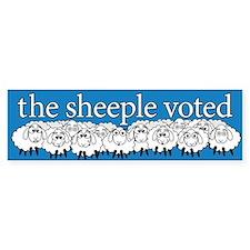 The Sheeple Voted Bumper Bumper Sticker