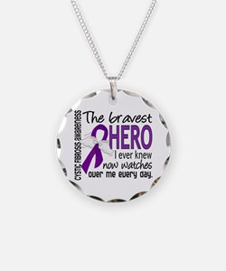 Bravest Hero I Knew Cystic Fibrosis Necklace