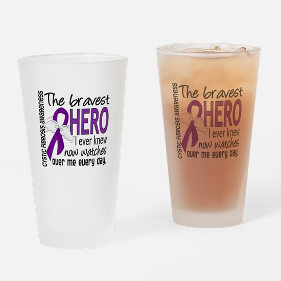 Bravest Hero I Knew Cystic Fibrosis Drinking Glass