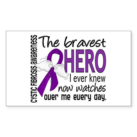 Bravest Hero I Knew Cystic Fibrosis Sticker (Recta