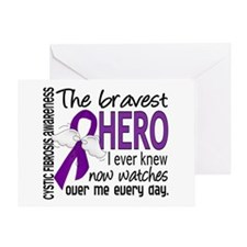 Bravest Hero I Knew Cystic Fibrosis Greeting Card