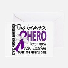 Bravest Hero I Knew Cystic Fibrosis Greeting Cards