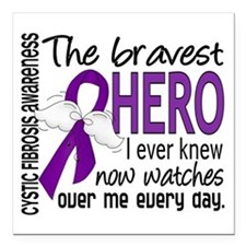 Bravest Hero I Knew Cystic Fibrosis Square Car Mag
