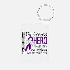 Bravest Hero I Knew Cystic Fibrosis Keychains