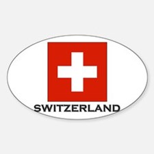 Switzerland Flag Stuff Oval Decal