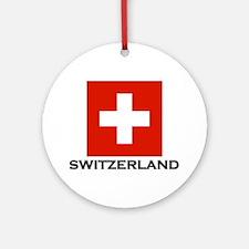 Switzerland Flag Stuff Ornament (Round)