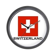 Switzerland Flag Stuff Wall Clock