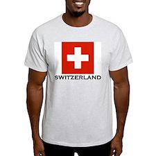 Switzerland Flag Stuff Ash Grey T-Shirt