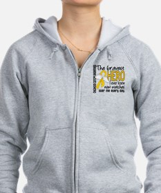 Bravest Hero I Knew Childhood Cancer Zip Hoodie