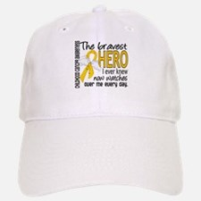 Bravest Hero I Knew Childhood Cancer Baseball Baseball Cap