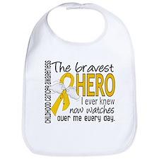 Bravest Hero I Knew Childhood Cancer Bib