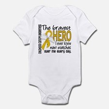 Bravest Hero I Knew Childhood Cancer Infant Bodysu