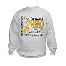 Bravest Hero I Knew Childhood Cancer Sweatshirt