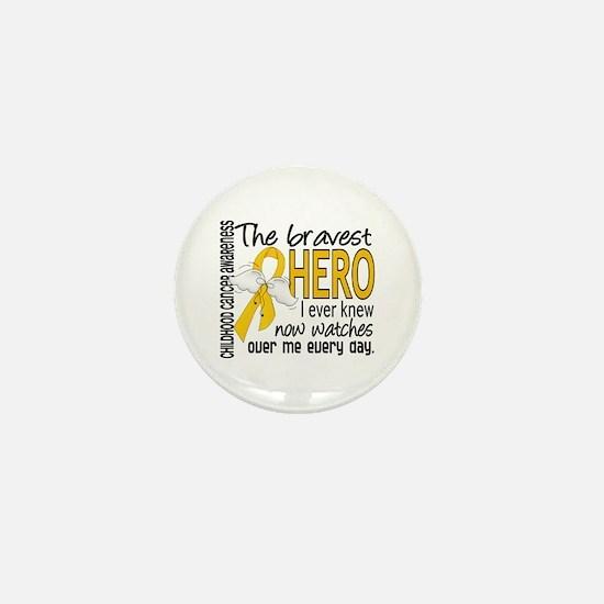 Bravest Hero I Knew Childhood Cancer Mini Button