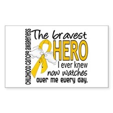 Bravest Hero I Knew Childhood Cancer Decal