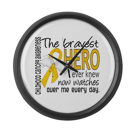 Bravest Hero I Knew Childhood Cancer Large Wall Cl