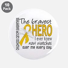 "Bravest Hero I Knew Childhood Cancer 3.5"" Button ("