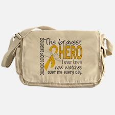 Bravest Hero I Knew Childhood Cancer Messenger Bag