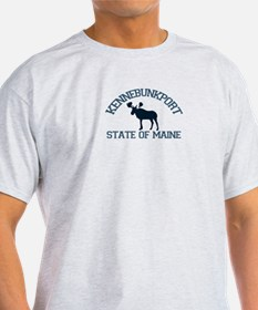 Kennebunkport ME - Moose Design. T-Shirt
