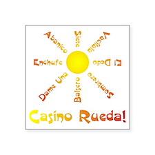 "Casino Rueda Salsa Square Sticker 3"" x 3&quot"