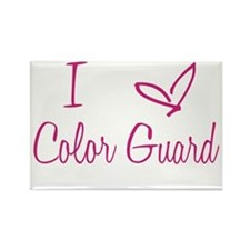 I Love Color Guard in Strawberry Pink Text Rectang