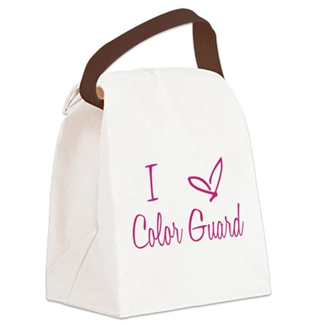 I Love Color Guard in Strawberry Pink Text Canvas