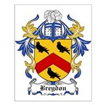 Breydon Coat of Arms Small Poster
