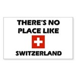 There Is No Place Like Switzerland Sticker (Rectan