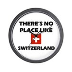 There Is No Place Like Switzerland Wall Clock