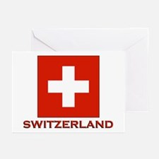 Switzerland Flag Merchandise Greeting Cards (Packa