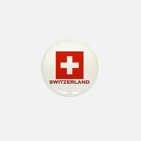Switzerland Flag Merchandise Mini Button