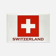 Switzerland Flag Merchandise Rectangle Magnet