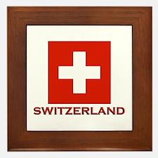 Switzerland Flag Merchandise Framed Tile