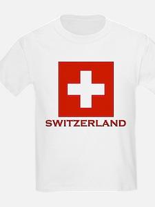 Switzerland Flag Merchandise Kids T-Shirt